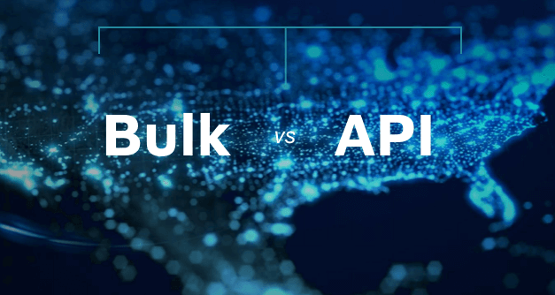 Bulk vs API: Search query has a lot to do with it