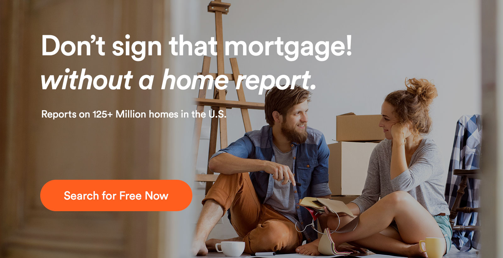dont sign that mortgage without a property report